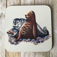 Seals Square Coaster
