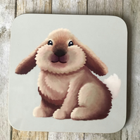 Rabbit Square Coaster
