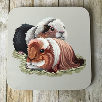 Guinea Pigs Square Coaster