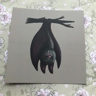 Bat square post card