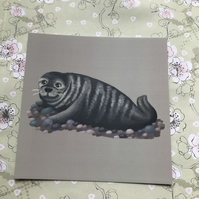 Grey Seal Square Post Card