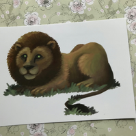 Lion post card