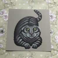 Scottish Fold Cat square post card