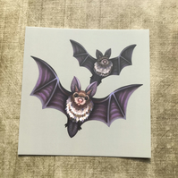 Set of 6 Halloween Square Post Cards