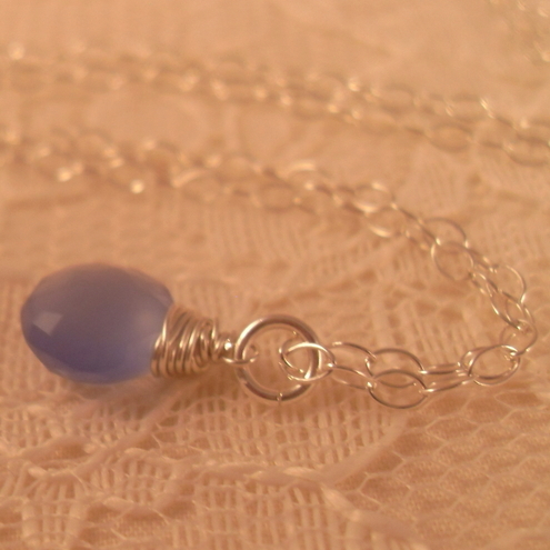 *SALE* Tanzanite Blue Violet Chalcedony Pendant ~ Sterling Silver