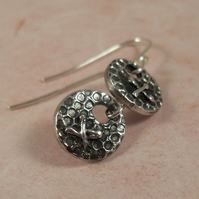 Little Kisses ~ fine silver earrings
