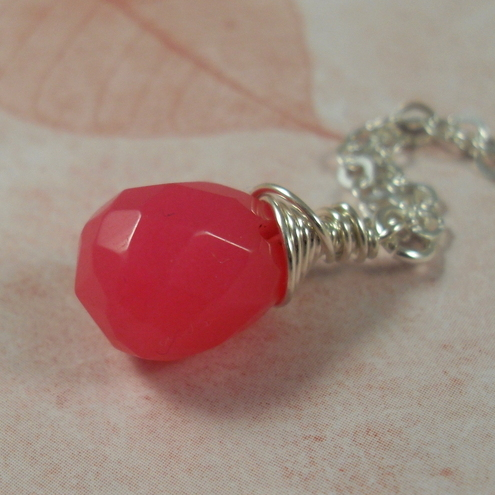 RESERVED FOR SAH Pink Candy pendant ~ sterling silver