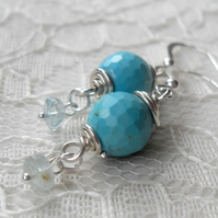 Reserved for Janet - Turquoise Pop ~ Earrings