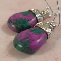 *SALE* Ruby Zoisite ~ earrings ~ sterling silver