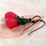 RESERVED FOR KIRSTY SALE SALE SALE Pink Candy - earrings - Jade & Emerald