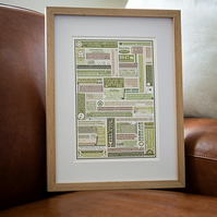Golf  Framed Personalised Print