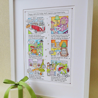 Storyboard Personalised Framed Illustration