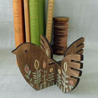Hand Painted Wooden Bird