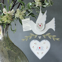 Cream Hand Painted Personalised Dove