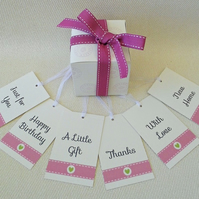 12 Occasions Gift Tags in Apple Green or Candy Pink