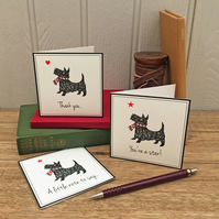 6 Scotty Dog Notecards