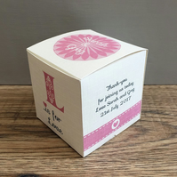 24 Personalised Gift Boxes, Wedding, Engagement, Anniversary Party Favours.