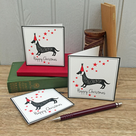 12 Dachshund Christmas Cards FREE UK P&P