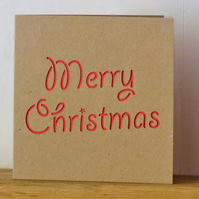 Merry Christmas Card (red)