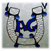 Made to Order Wedding Horseshoe Stained Glass Suncatcher Personalised