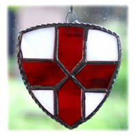 England Shield Suncatcher Stained Glass St George