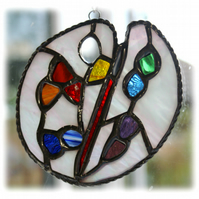 Artist Palette Stained Glass Suncatcher painting