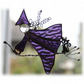 Witch on Broomstick Suncatcher Stained Glass 012 Cat Handmade