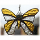 Birthstone Butterfly Suncatcher Stained Glass Topaz November