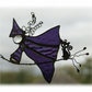 Witch on Broomstick Suncatcher Stained Glass 013 Cat Handmade