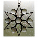 Christmas Star Stained Glass Suncatcher Snowflake 011