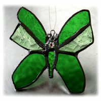 Butterfly Stained Glass Suncatcher Green 041