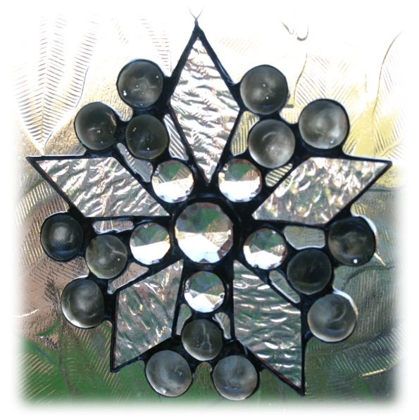 Diamond Nugget Star Suncatcher Stained Glass