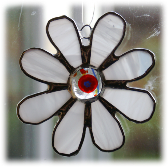 Millefiori Daisy Stained Glass Suncatcher Fused 010 Flower