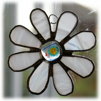 Millefiori Daisy Stained Glass Suncatcher Fused 011 Flower