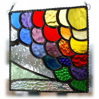 Rainbow Clouds Stained Glass Suncatcher Handmade After the Rain