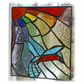 Kingfisher Rainbow Panel Stained Glass Suncatcher