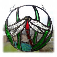Dragonfly Ring Stained Glass Suncatcher Handmade