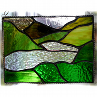 Lake District Panel Stained Glass Picture Landscape