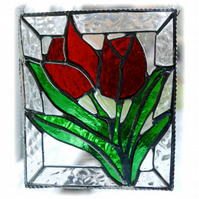 Tulip Stained Glass Picture Flower Suncatcher Spring