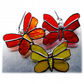 Trio of Butterflies Stained Glass Suncatcher