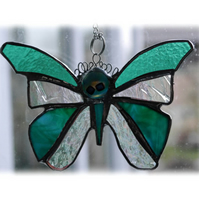 SOLD Birthstone Butterfly Suncatcher Stained Glass Emerald May