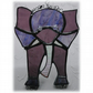 Elephant Suncatcher Handmade Stained Glass Animal