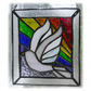 Rainbow Dove Stained Glass Picture Suncatcher Handmade