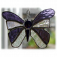 Birthstone Butterfly Suncatcher Stained Glass Amethyst February