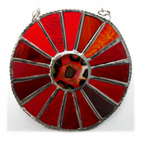 In the Red Colour Wheel Suncatcher Stained Glass Handmade