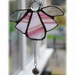 Angel Bell Suncatcher Stained Glass Pink