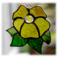 Primrose Suncatcher Stained Glass Yellow flower