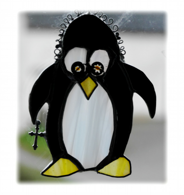 Penguin Suncatcher Stained Glass