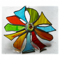 Tropical Flower Suncatcher Stained Glass Dichroic 003