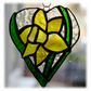 Daffodil Heart Suncatcher Stained Glass 004